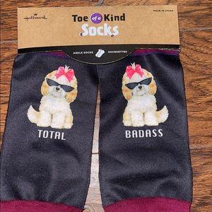 NIP 2 pairs of Toe of a Kind Hallmark ankle socks